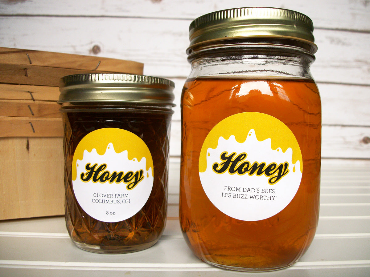 Liquid Gold Custom Honey Jar Labels | CanningCrafts.com