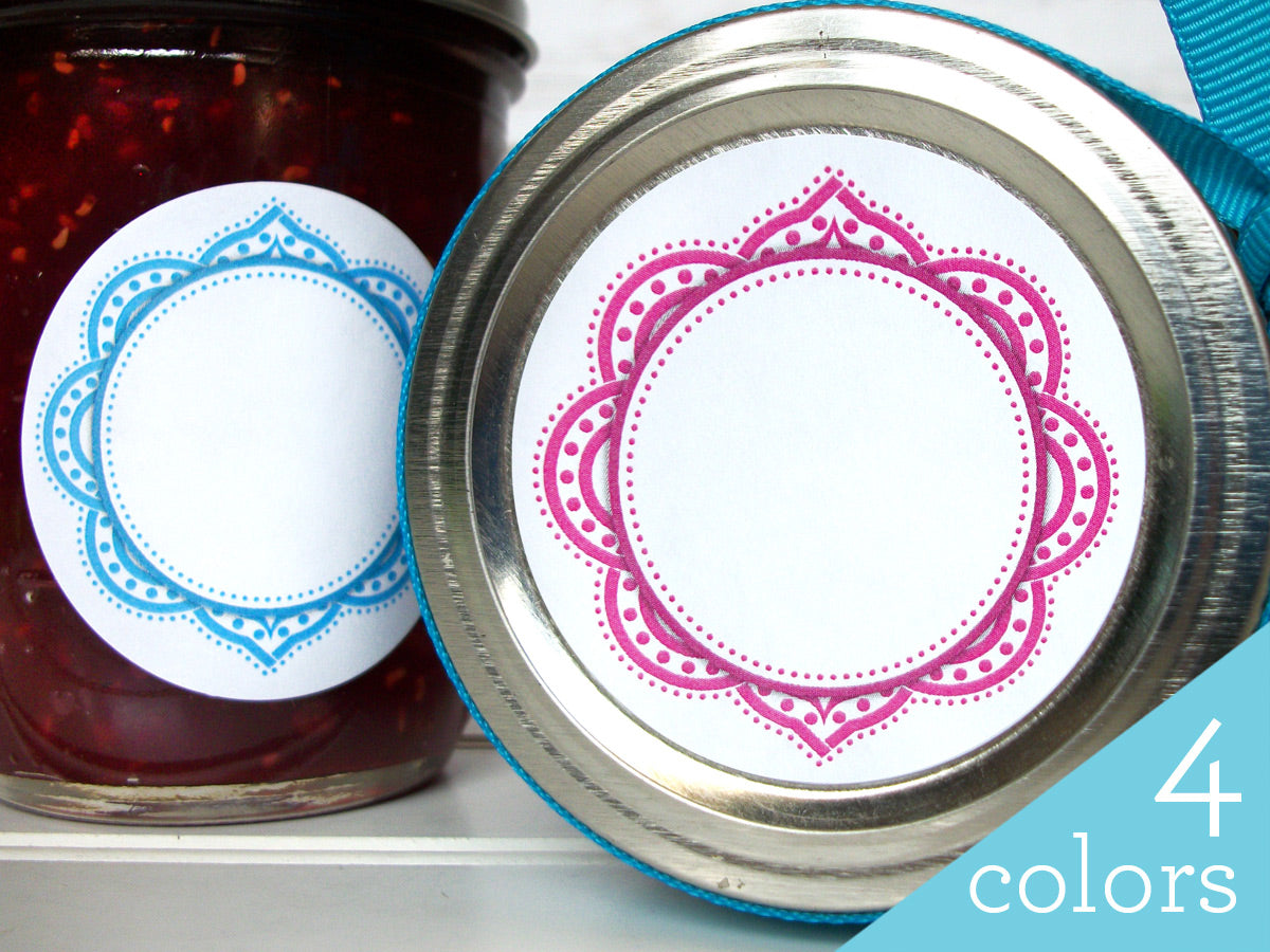 Mandala Canning Labels for home canned jam & jelly | CanningCrafts.com