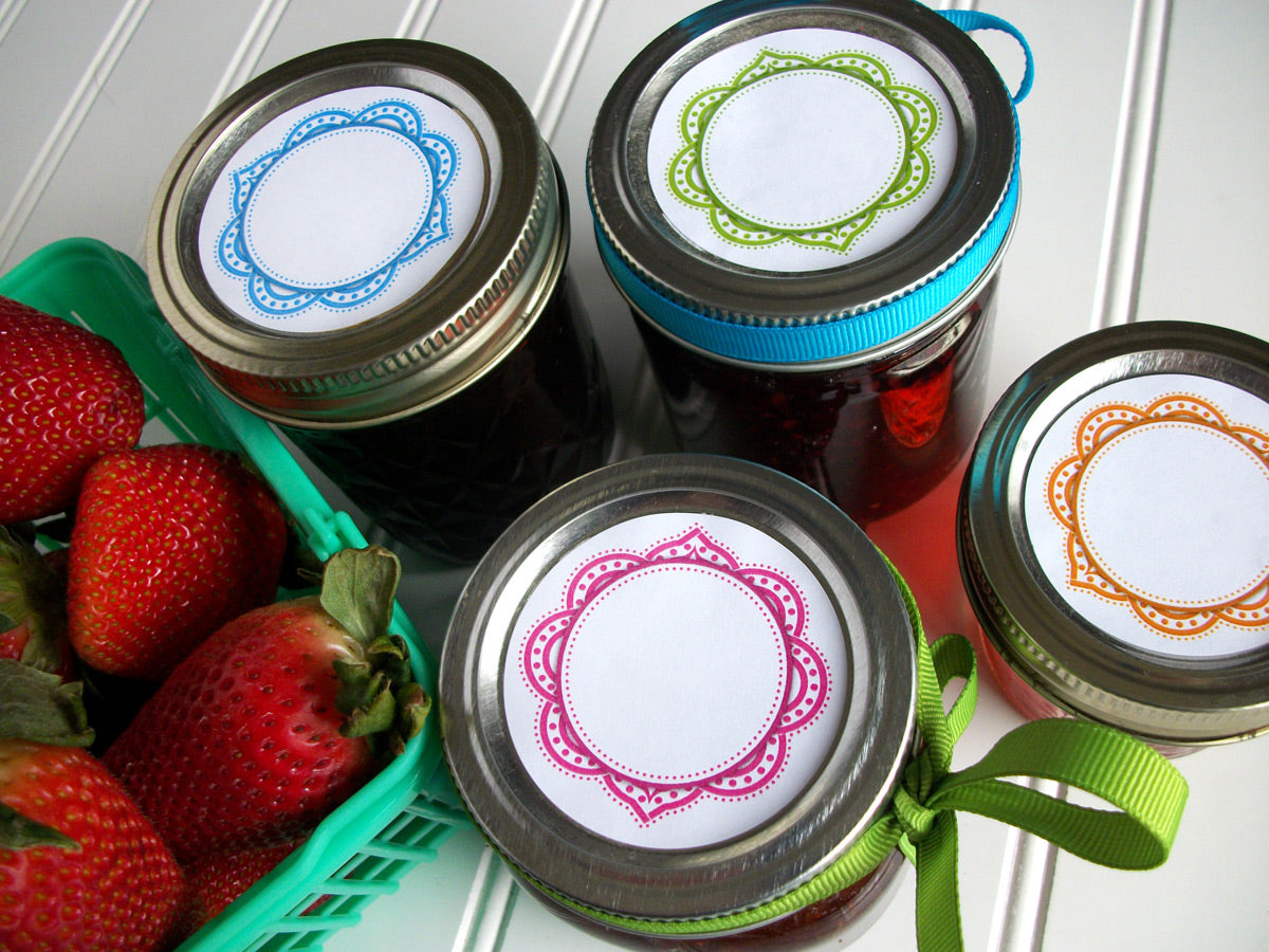 Mandala Canning Labels for home canning jam & jelly | CanningCrafts.com