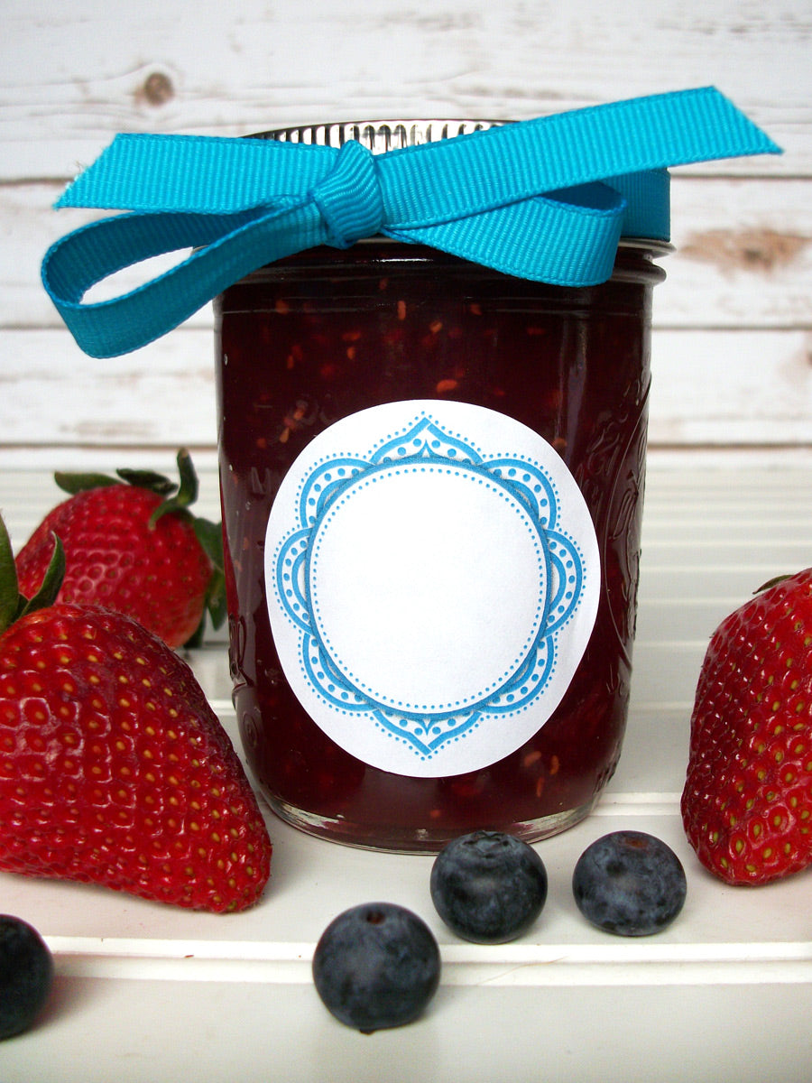 Mandala Jam & Jelly Jar Labels | CanningCrafts.com
