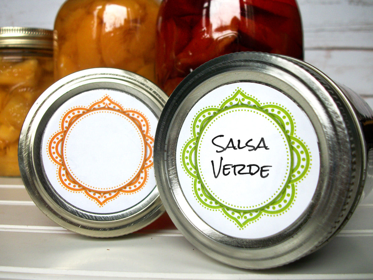 Mandala Canning Jar Labels for home canned jam & jelly | CanningCrafts.com