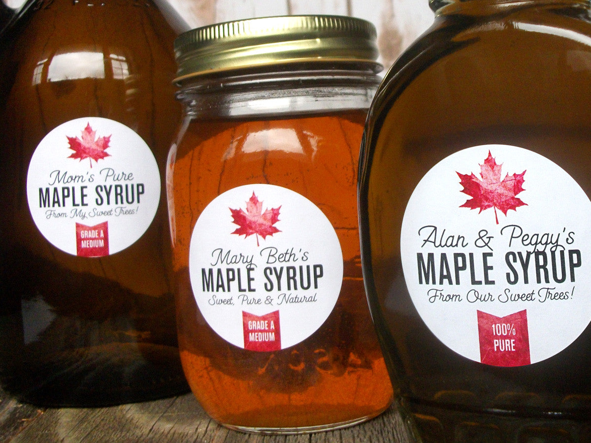 custom Maple Syrup bottle labels | CanningCrafts.com