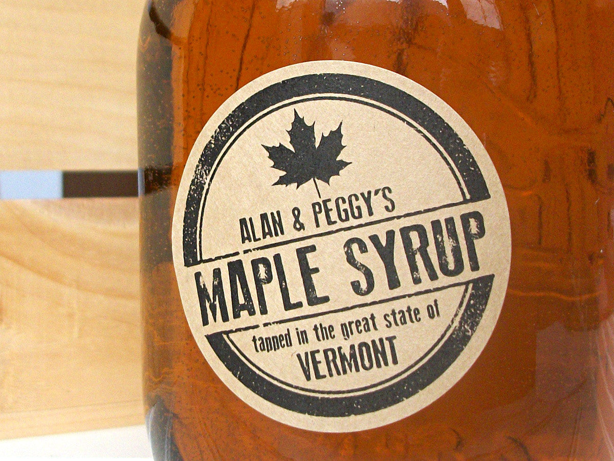 custom Maple Syrup bottle labels