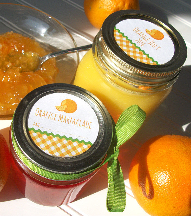 Orange Jelly Canning Labels | CanningCrafts.com
