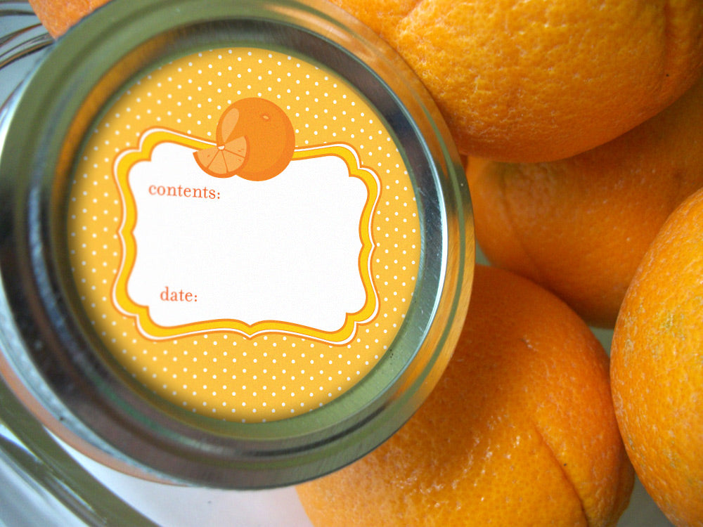 Orange Marmalade Canning Labels | CanningCrafts.com