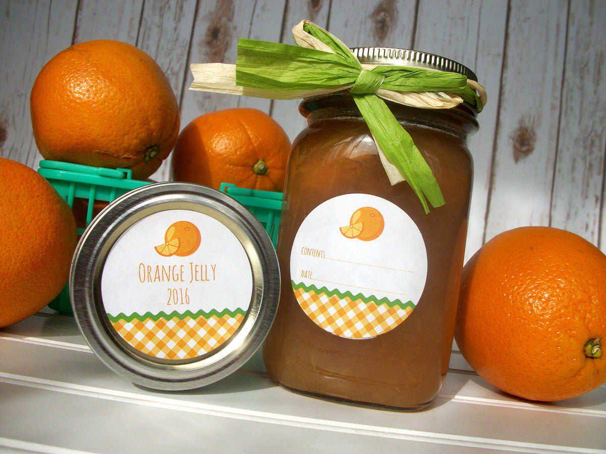 Orange Jam Canning Labels | CanningCrafts.com