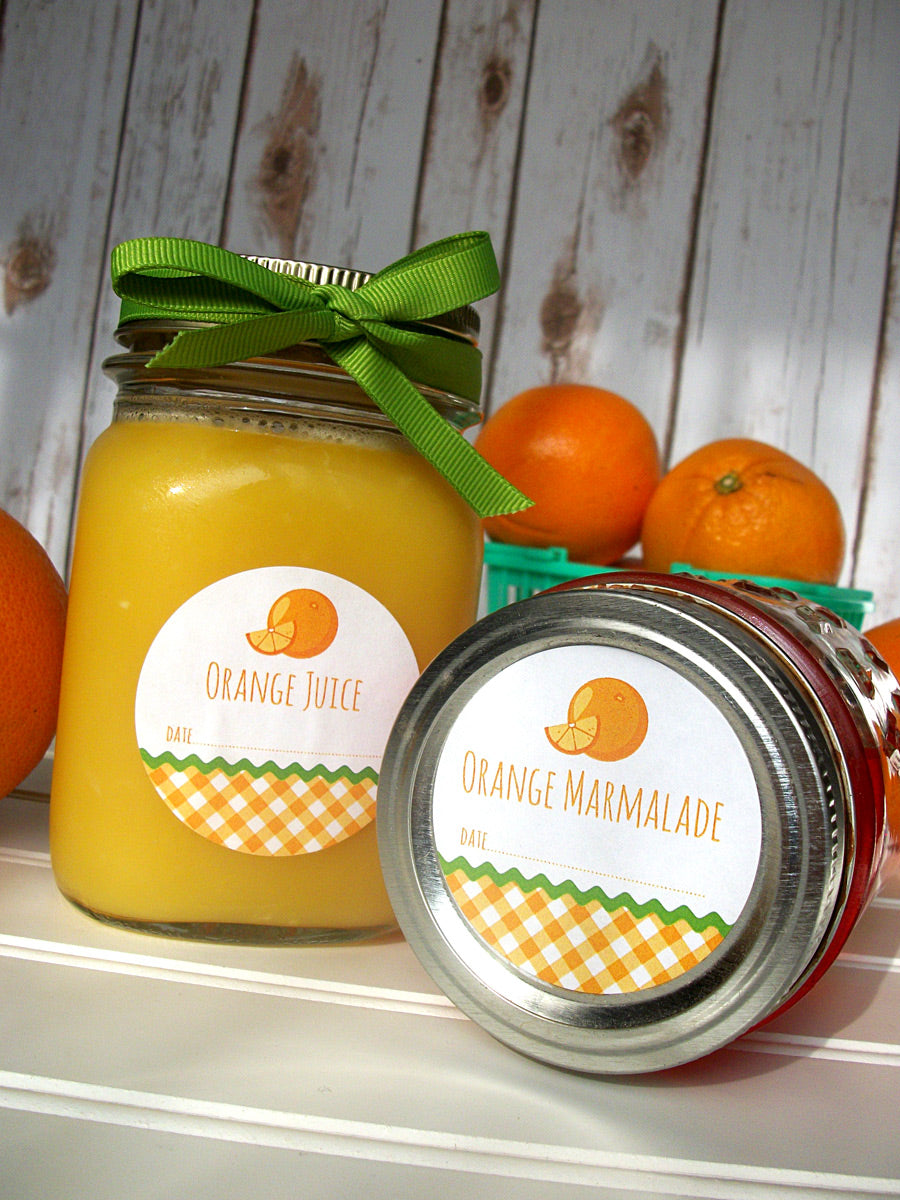 Orange Marmalade & Juice Canning Jar Labels | CanningCrafts.com