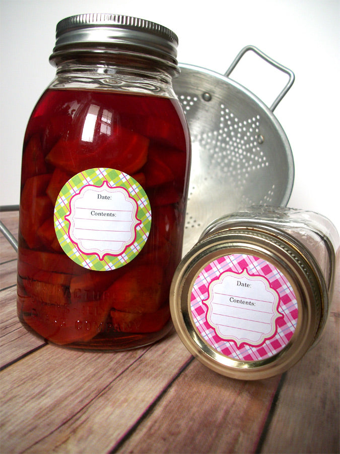 Pastel Plaid Canning Labels | CanningCrafts.com