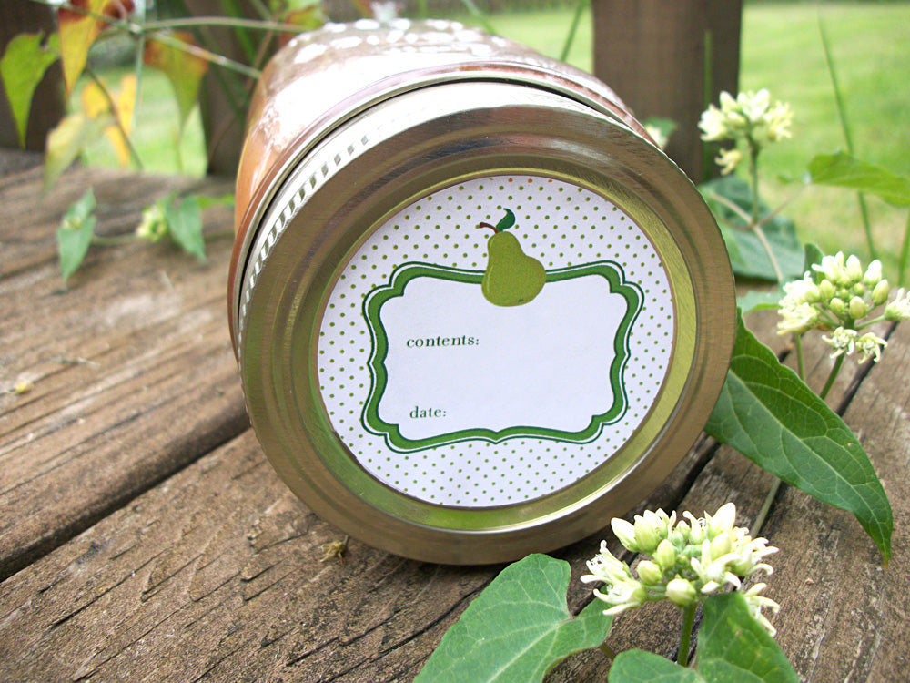 Pear Canning Labels | CanningCrafts.com