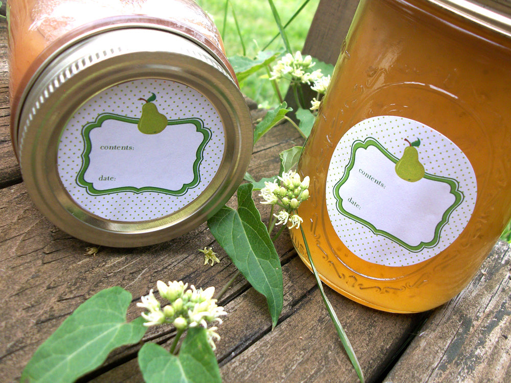 Pear Canning Jar Labels | CanningCrafts.com