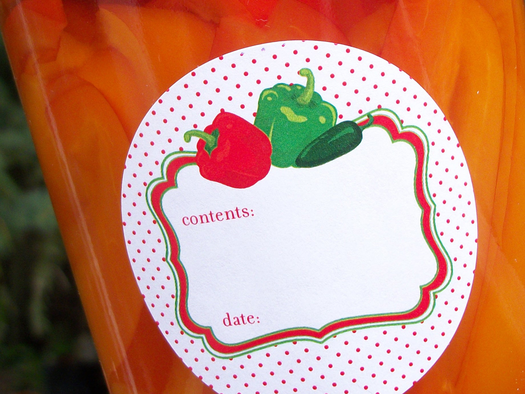 Cute Pepper Canning Labels | CanningCrafts.com
