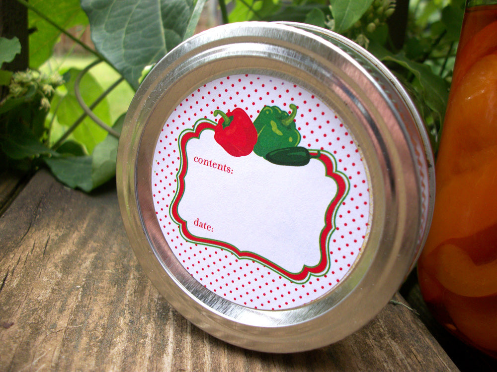 Cute Pepper Canning Jar Labels | CanningCrafts.com
