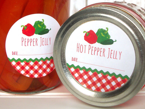 Pepper Jelly Canning Labels