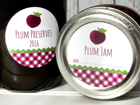 Plum Jam Canning Labels