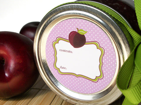 Plum Canning Labels