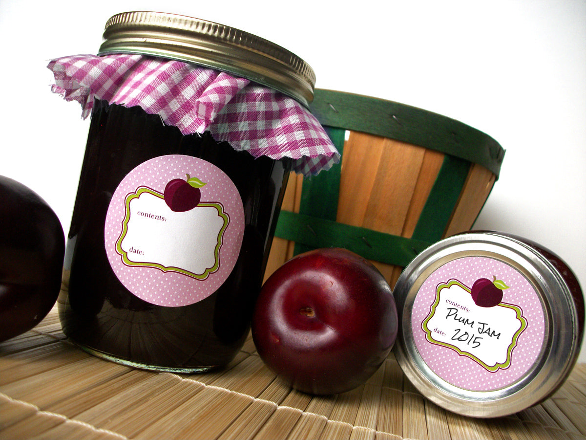 Plum Canning Jar Labels | CanningCrafts.com