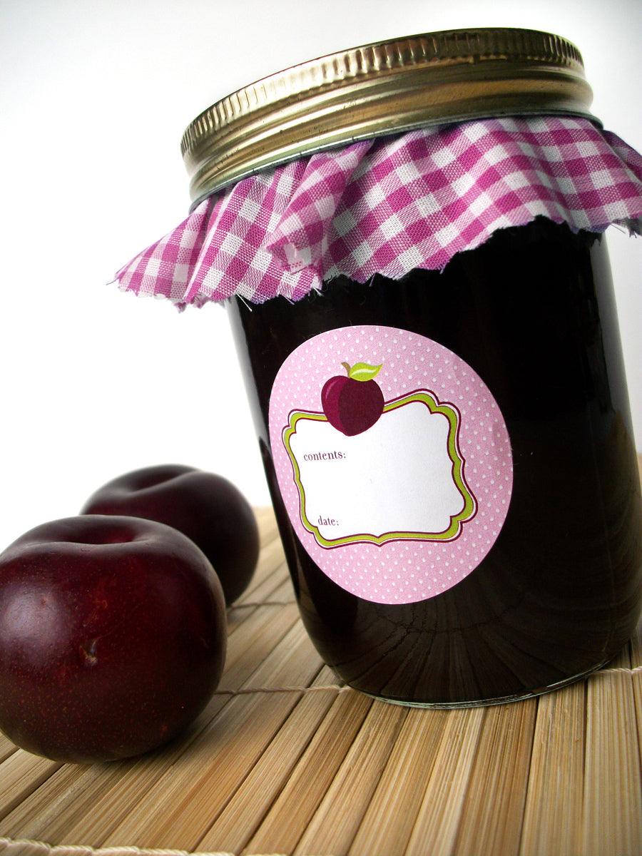 Plum Jam & Jelly Jar Canning Labels | CanningCrafts.com