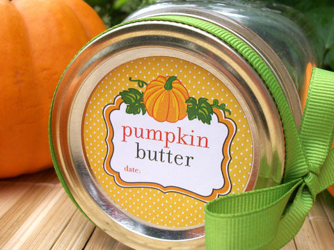 Pumpkin Butter Canning Labels | CanningCrafts.com