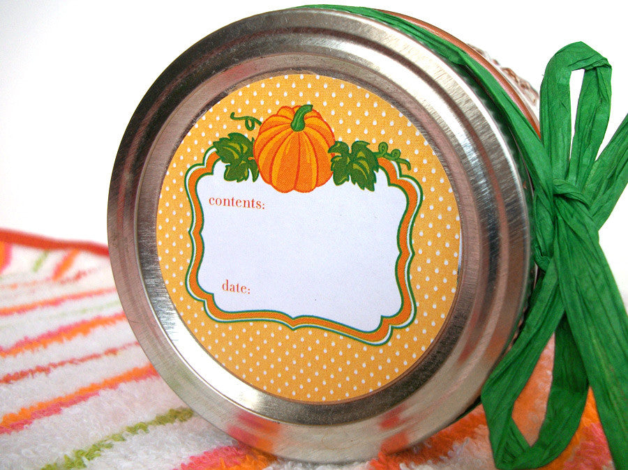 Pumpkin Canning Jar Labels | CanningCrafts.com