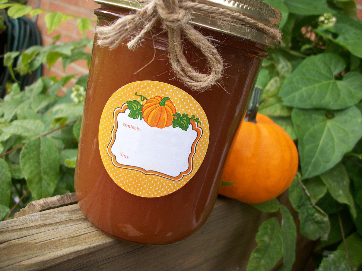 Pumpkin Canning Labels