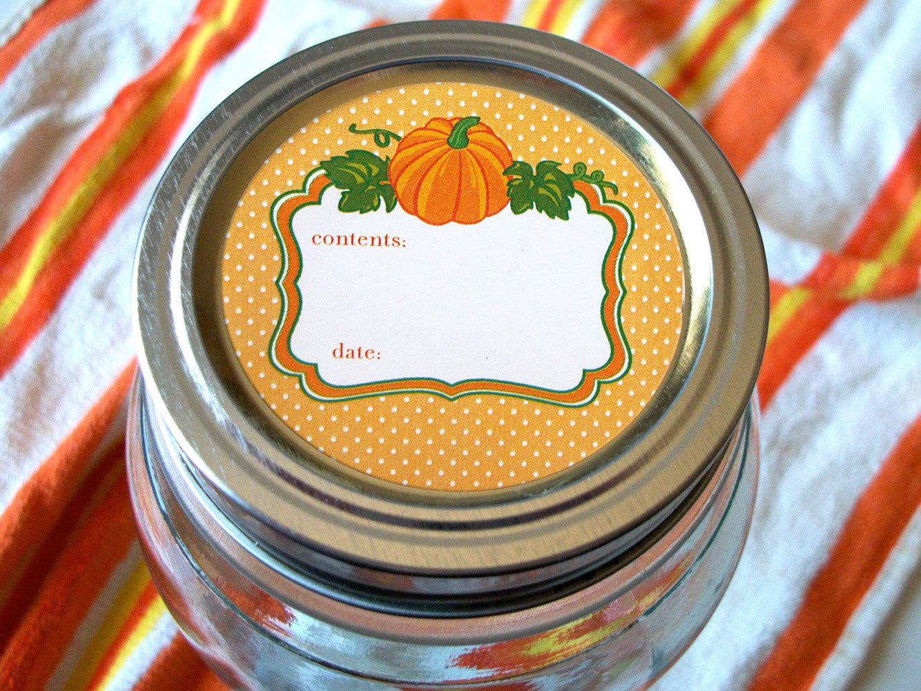 Pumpkin Mason Jar Labels | CanningCrafts.com