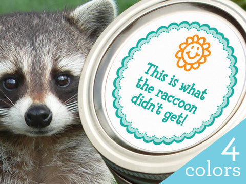 Raccoon canning labels | CanningCrafts.com