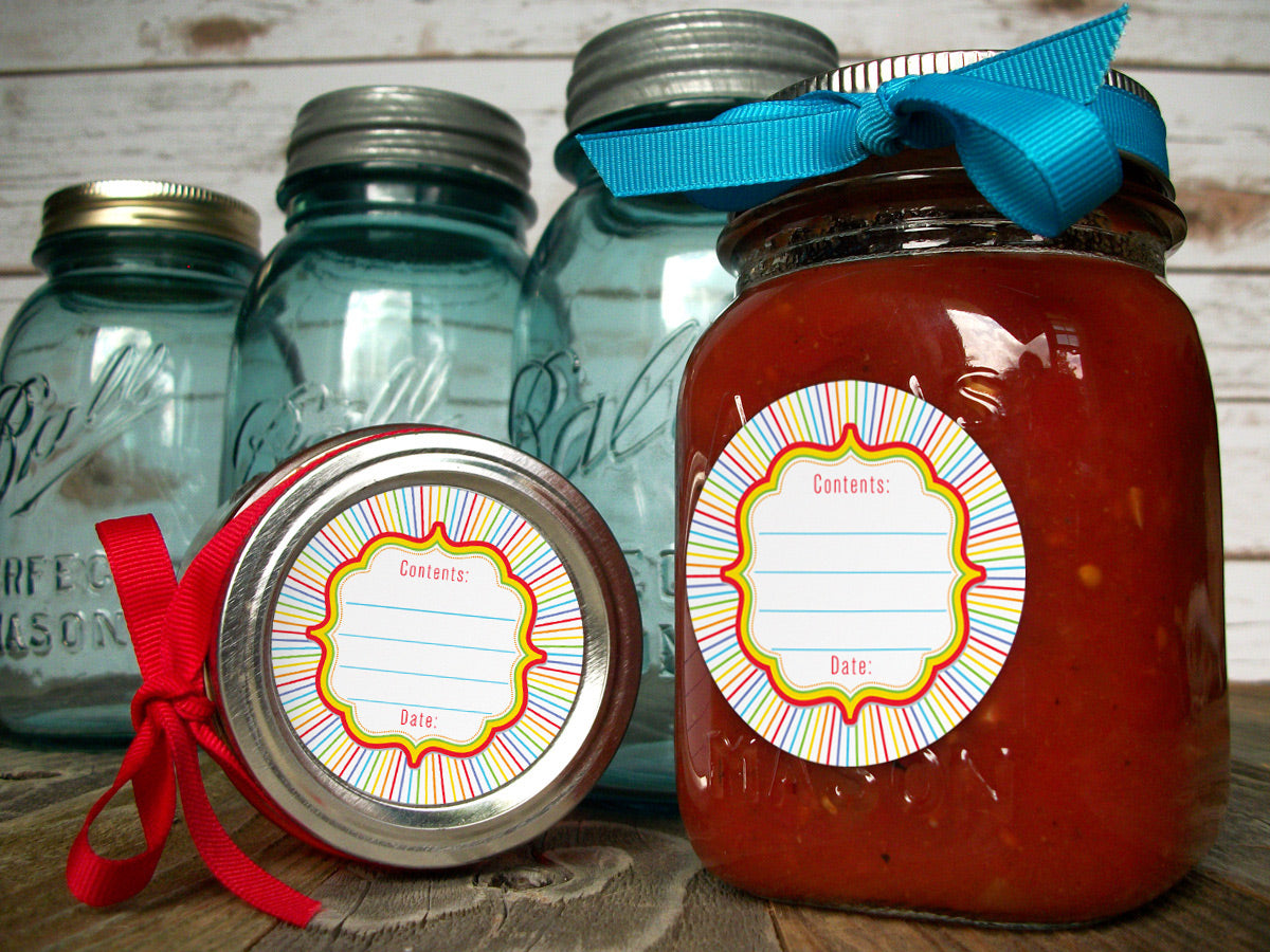 Rainbow Canning Labels | CanningCrafts.com