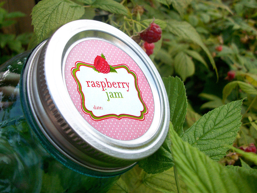 Red Raspberry Jam Canning Labels | CanningCrafts.com