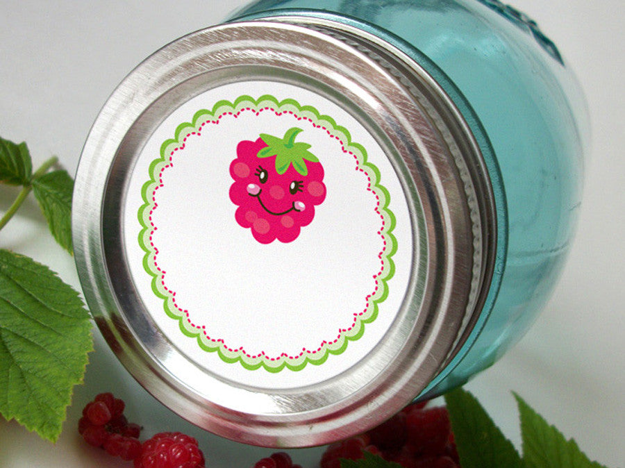 Raspberry Canning Labels