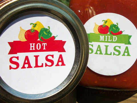 Hot & Mild Salsa Canning Labels | CanningCrafts.com