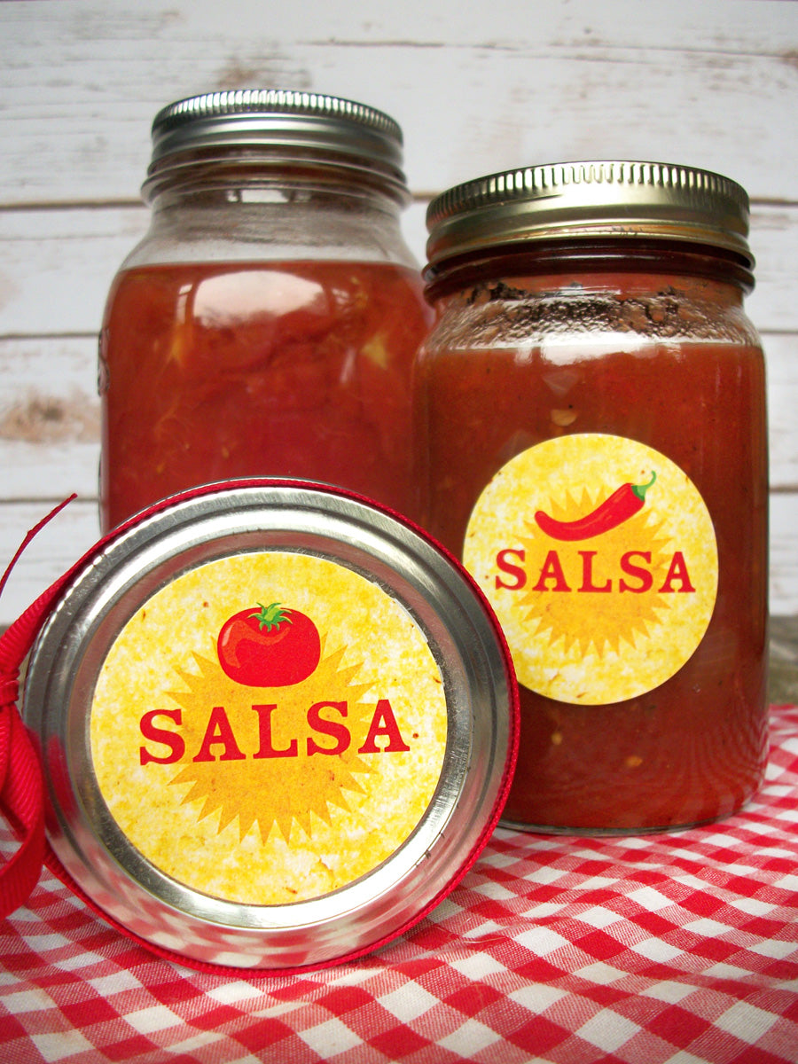 Tomato & Pepper Salsa Canning Jar Labels | CanningCrafts.com