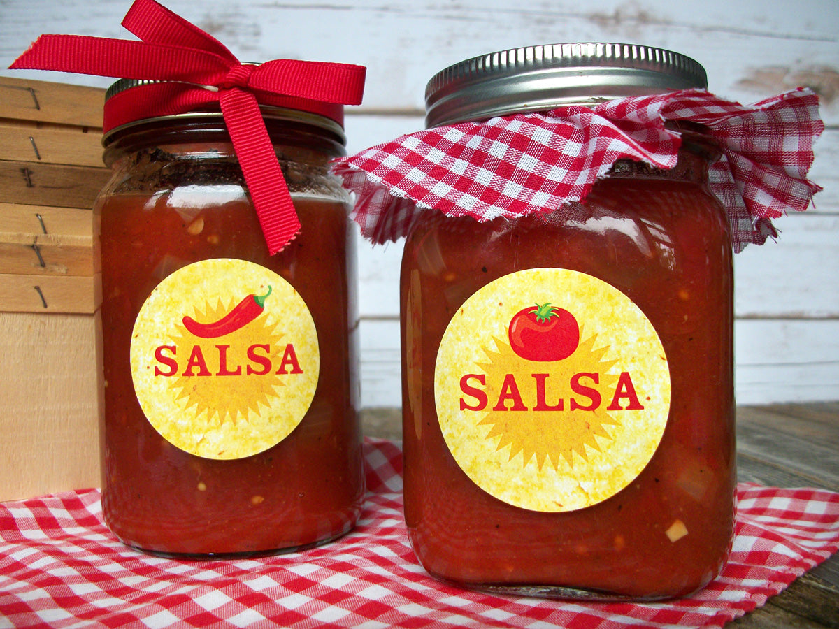 Salsa Canning Jar Labels | CanningCrafts.com