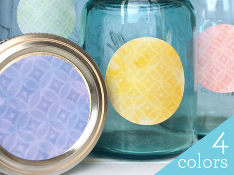 Sparkle Watercolor Canning Labels | CanningCrafts.com