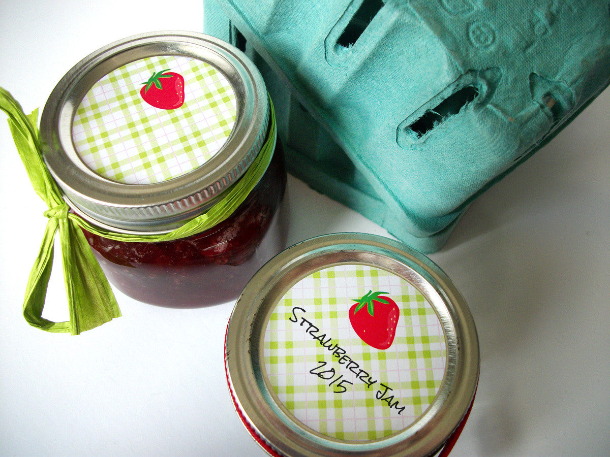 Strawberry Fruit Canning Jar Labels | CanningCrafts.com