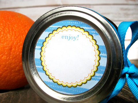 Teal canning labels | CanningCrafts.com