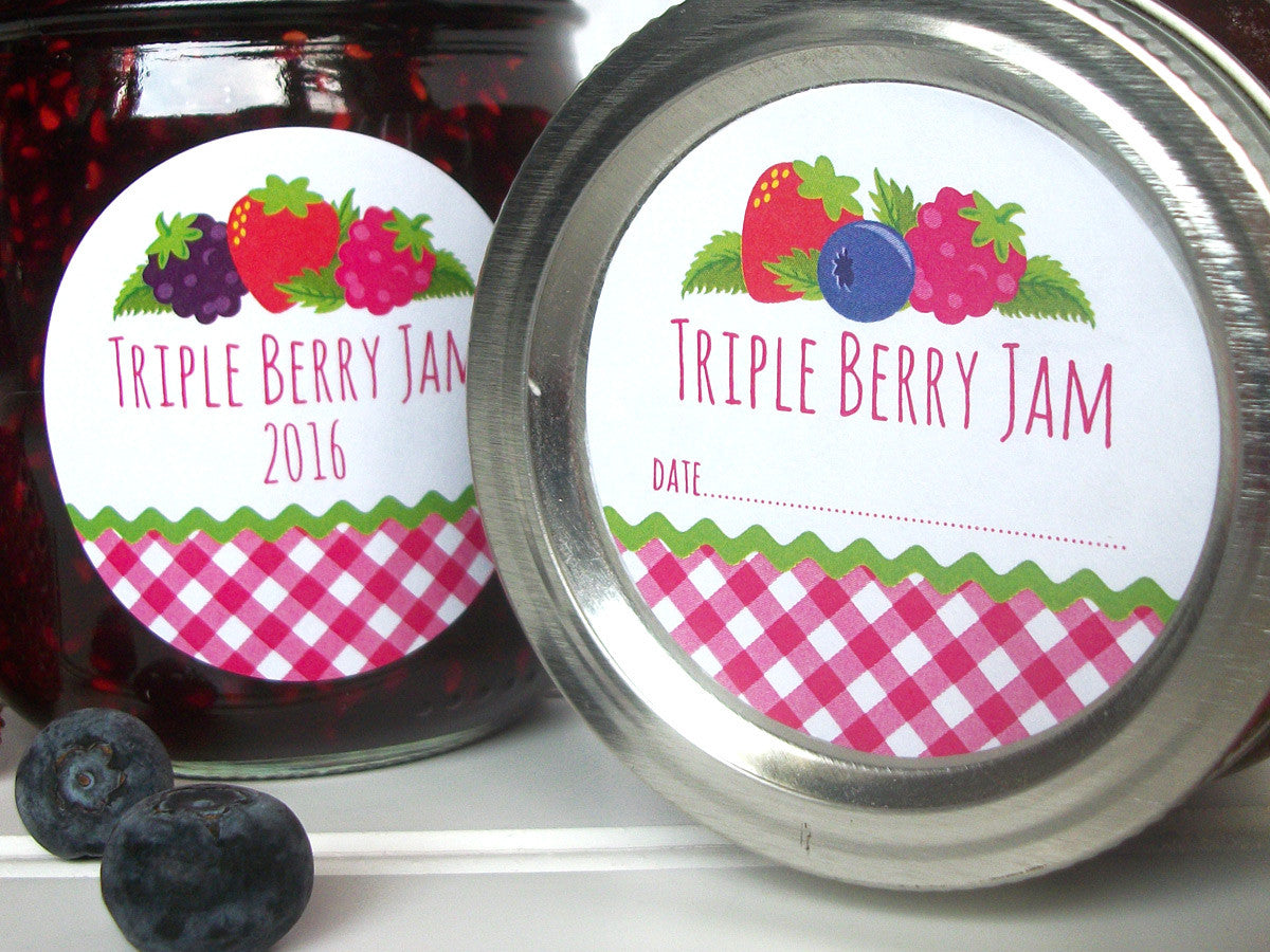 Triple Berry Jam Jar Labels