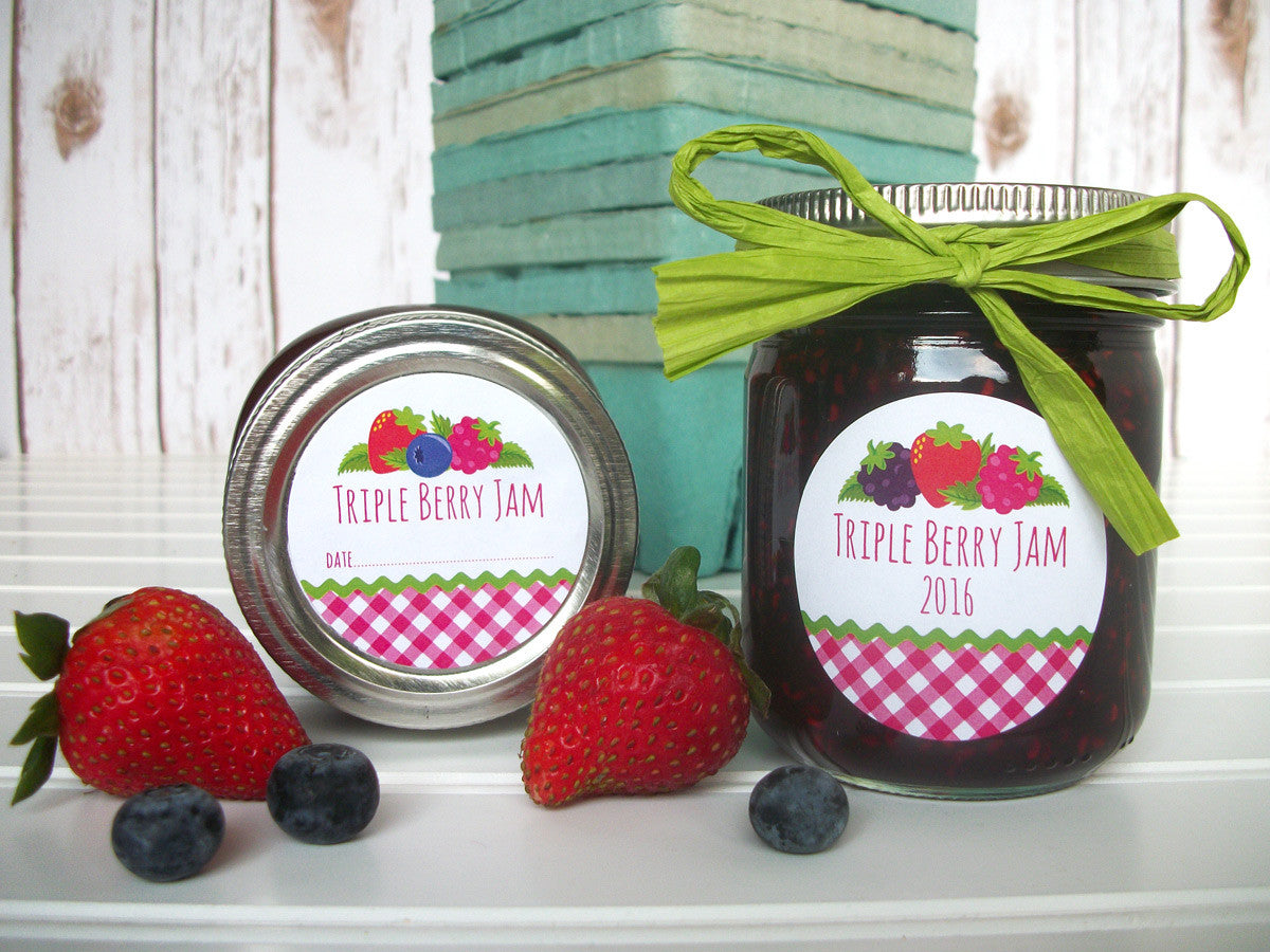 Triple Berry Jam Jar Labels | CanningCrafts.com