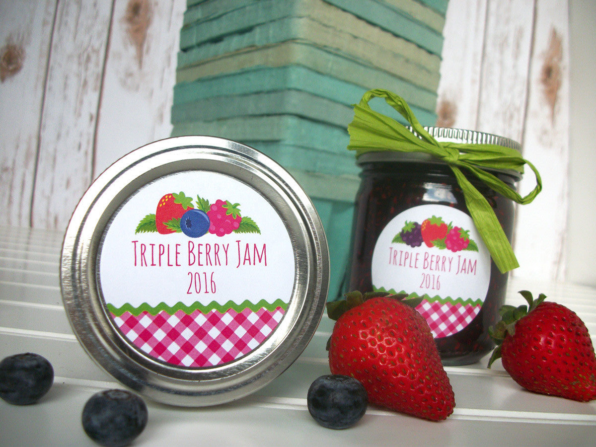 Triple Berry Jam Canning Labels | CanningCrafts.com