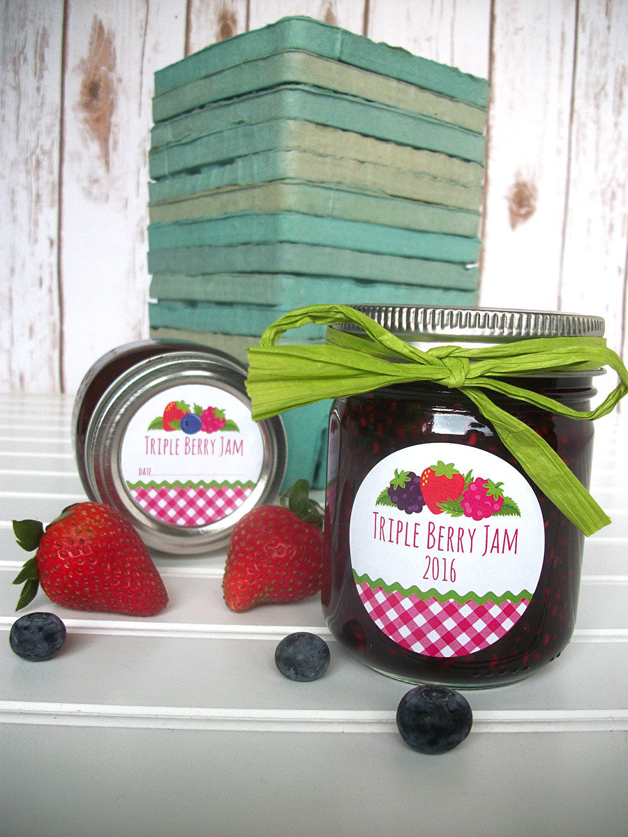 Triple Berry Jam Canning Labels