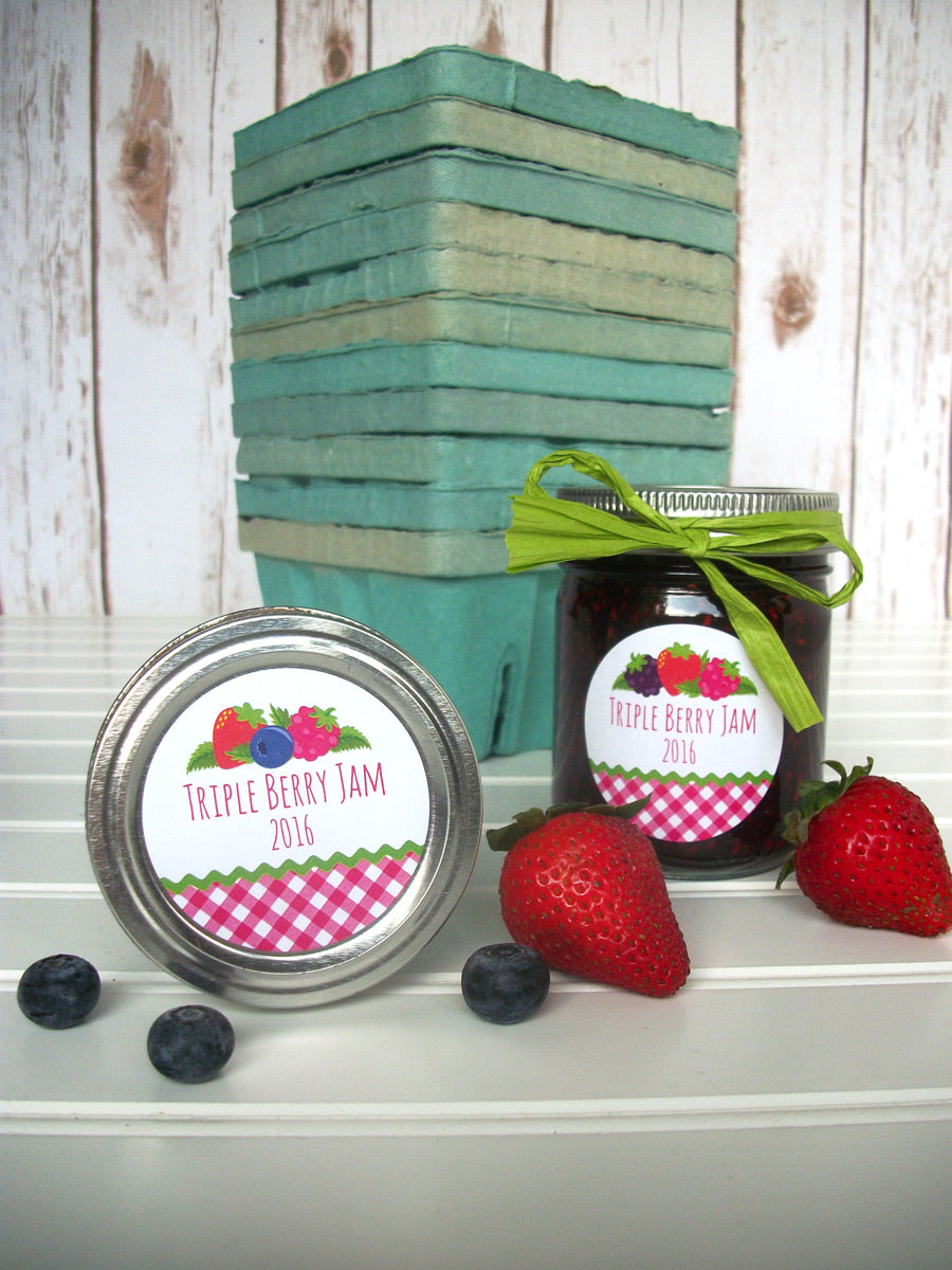 Triple Berry Jam Canning Jar Labels | CanningCrafts.com