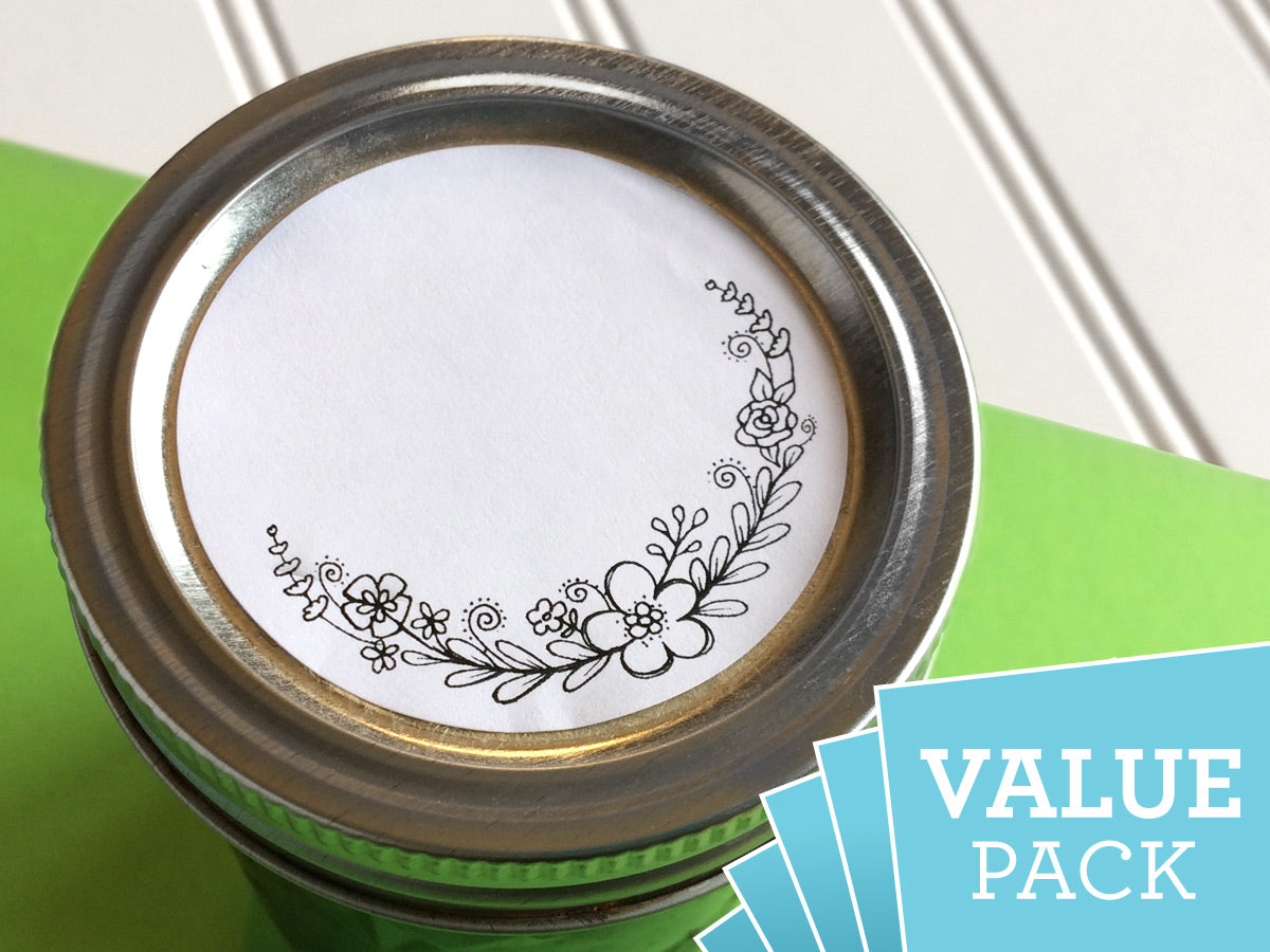 VALUE PACK Floral Canning Labels | CanningCrafts.com