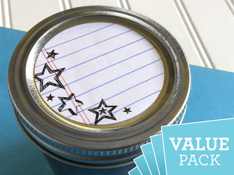 VALUE PACK Notebook Canning Labels | CanningCrafts.com
