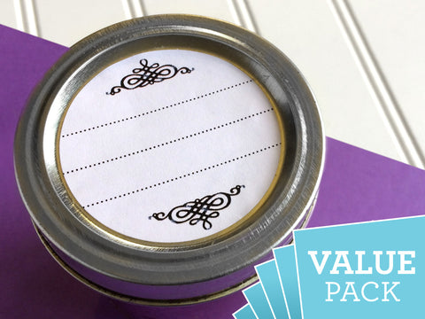 VALUE PACK Scroll Canning Labels | CanningCrafts.com