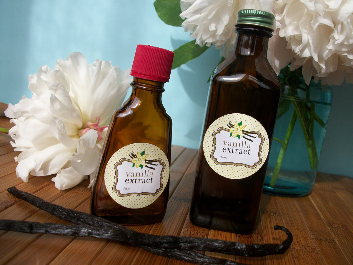 Cute Vanilla Extract Labels | CanningCrafts.com