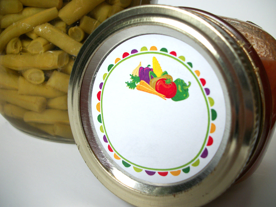Fun Vegetable Canning Jar Labels | CanningCrafts.com