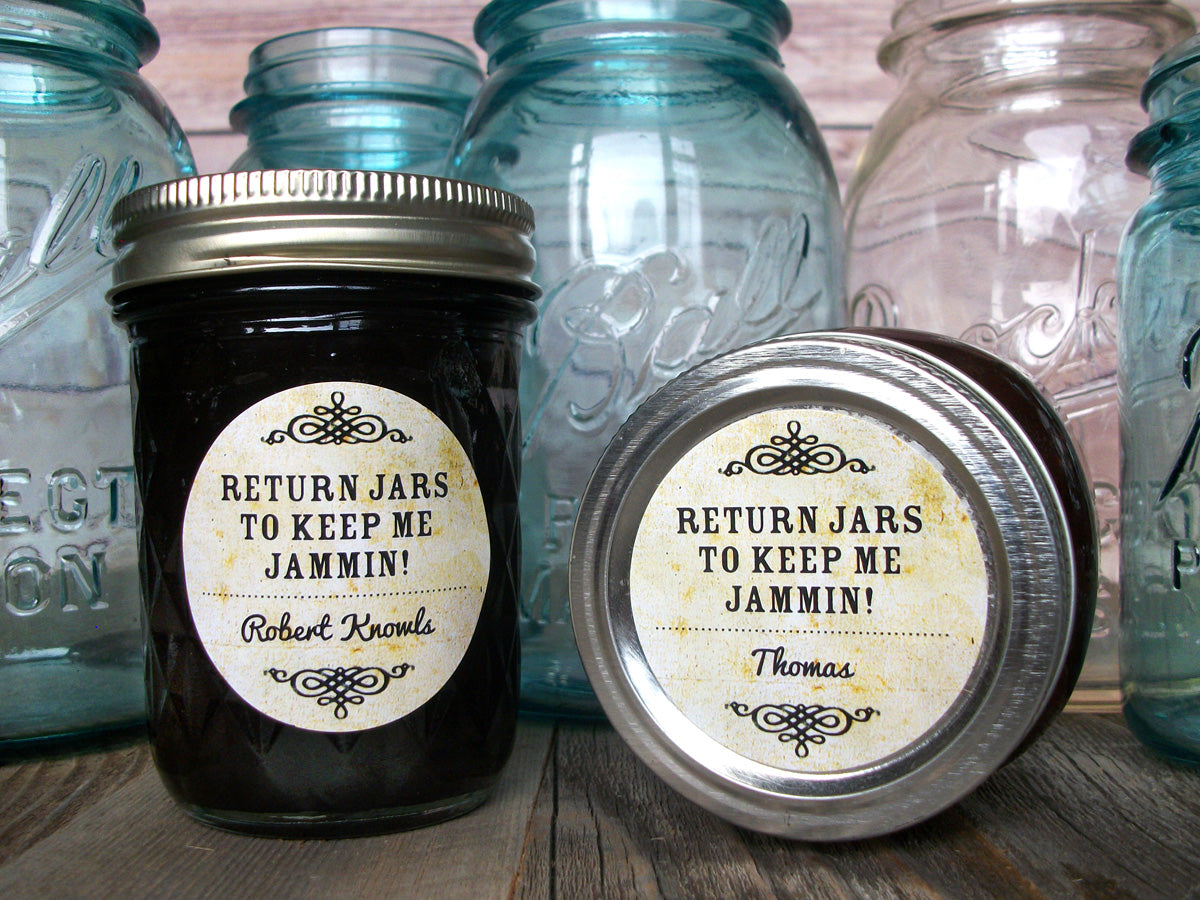 Custom Vintage Return Jars to Keep Me Jammin Canning Labels | CanningCrafts.com