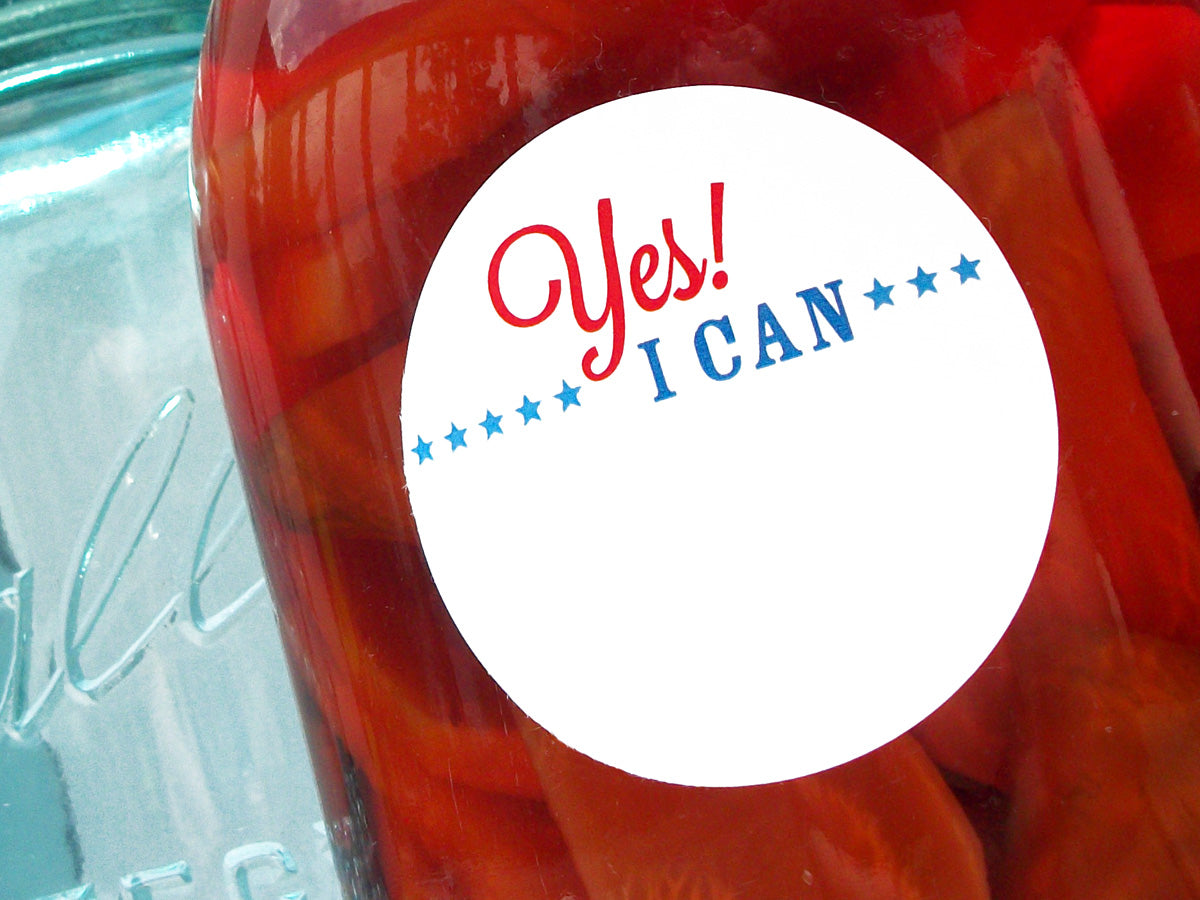 Patriotic Yes I Can Victory Garden Canning Labels | CanningCrafts.com