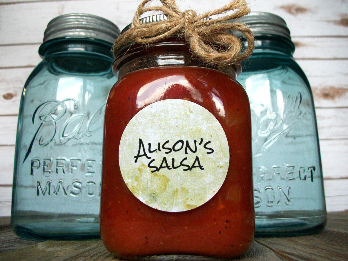 Antique vintage canning jar labels