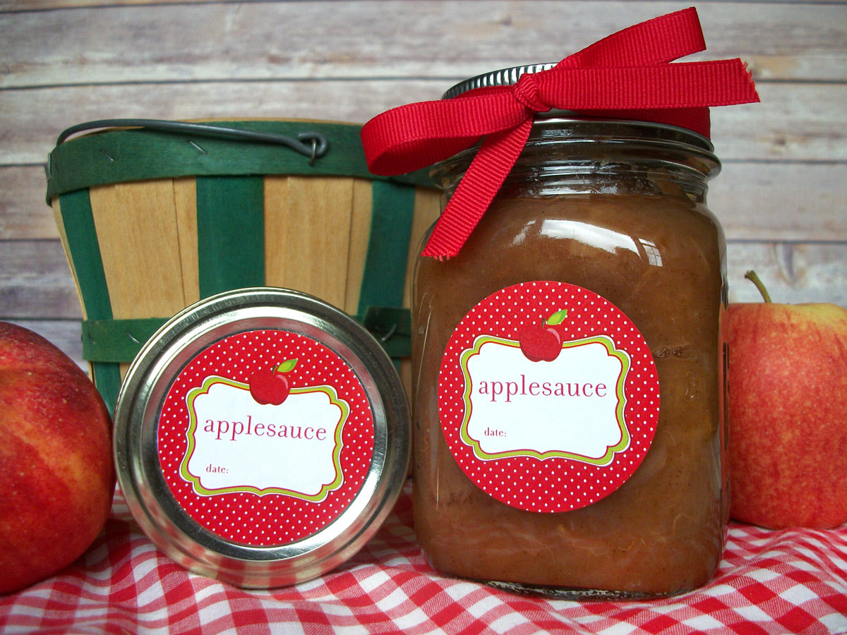 Cute Applesauce Canning Labels | CanningCrafts.com