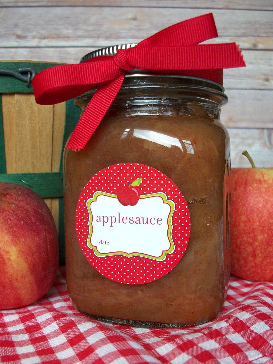 Cute Applesauce Mason Canning Jar Labels | CanningCrafts.com